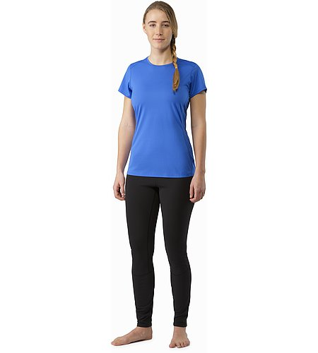 Phase SL Crew SS Women's Island Blue Front View