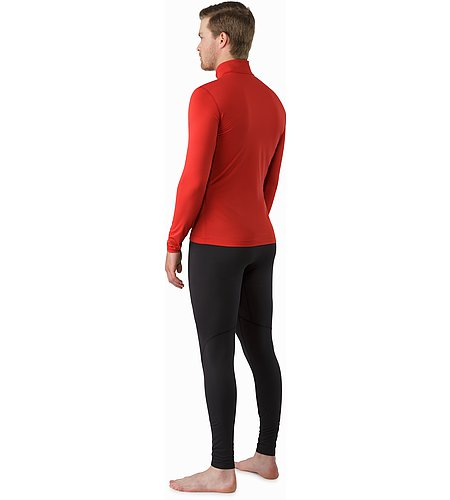 Phase SL Zip Neck LS Vermillion Back View