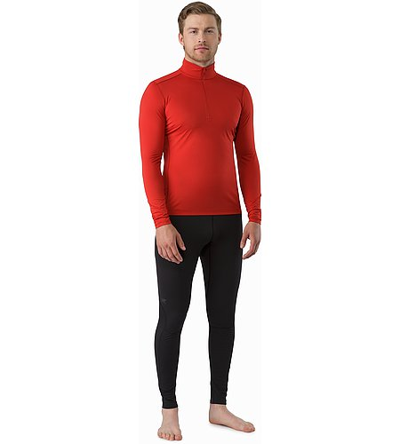 Phase SL Zip Neck LS Vermillion Front View