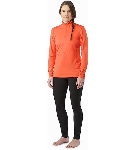 Phase SL Zip Neck LS Women's Nectar Front View