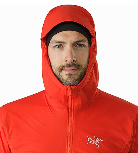 Procline Hybrid Hoody Cardinal Hood Front View