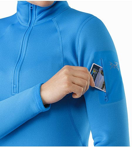 Rho AR Zip Neck Women's Baja Sleeve Pocket 2