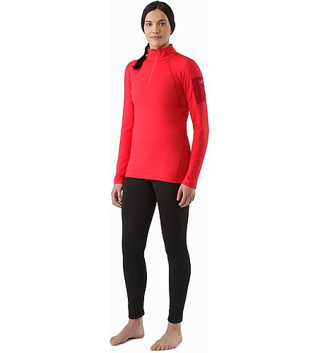 Rho LT Zip Neck LS Women's Rad Front View 2