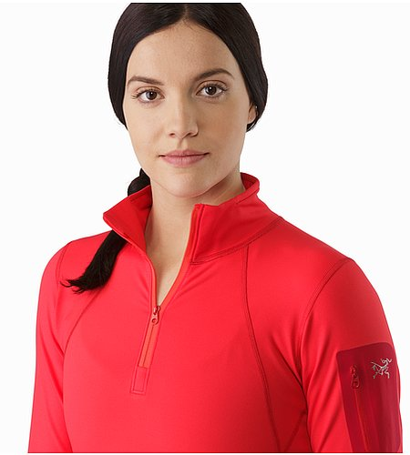 Rho LT Zip Neck LS Women's Rad Open Collar 2