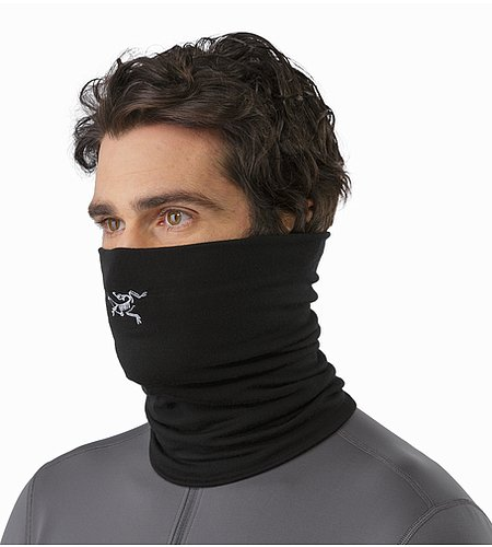 Rho LTW Neck Gaiter Black Front View