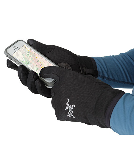 Rivet Glove Black Touch Screen Compatible Pad
