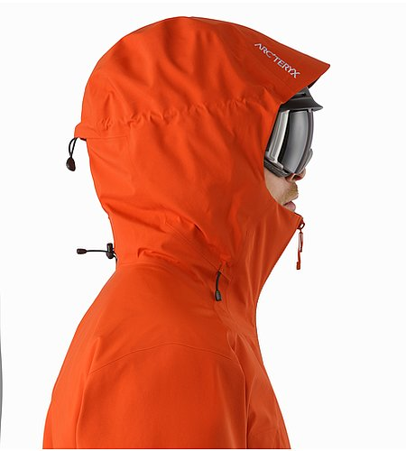 Sabre Jacket Rooibos Helmet Compatible Hood Side View