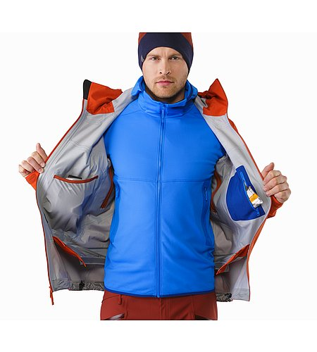 Sabre Jacket Rooibos Internal Pockets