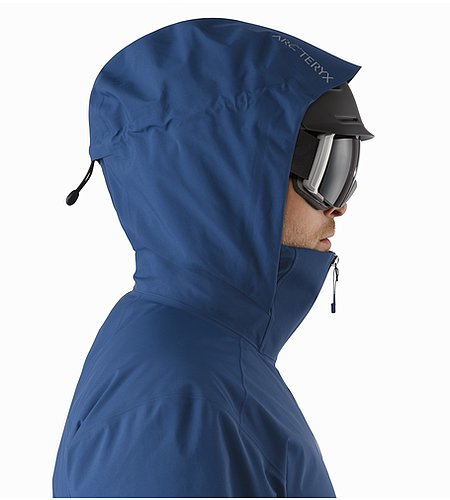 Shuksan Jacket Triton Helmet Compatible Hood Side View