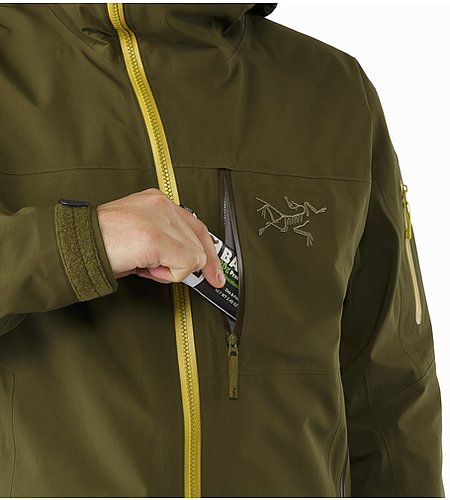 Sidewinder SV Jacket Dark Moss Chest Pocket