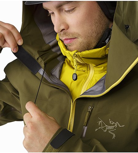 Sidewinder SV Jacket Dark Moss Hood Adjuster