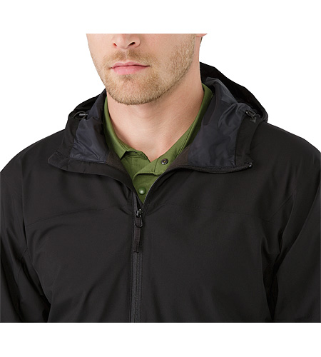 Solano Jacket Black Open Collar
