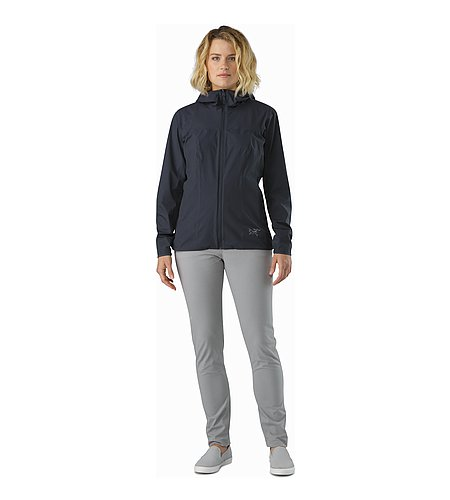 Solano Jacket Women's Black Sapphire Front View