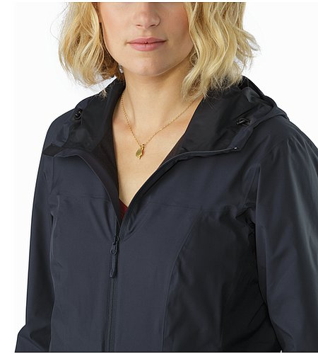 Solano Jacket Women's Black Sapphire Open Collar