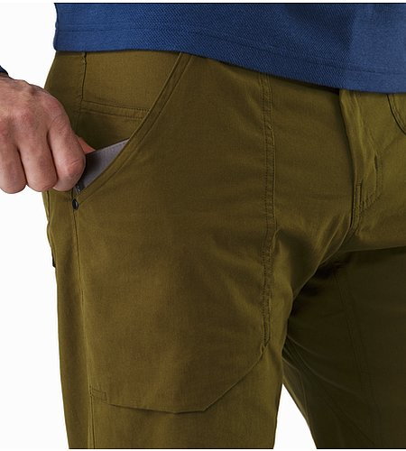 Sullivan Pant Dark Moss External Pocket Front