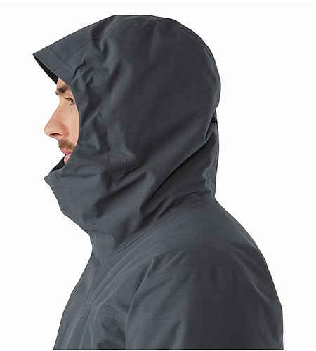 Therme Parka Nighthawk Hood Side View