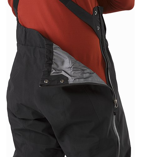 Theta SV Bib Black Side Zipper