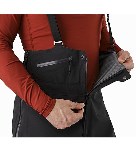 Theta SV Bib Black Zippered Fly With Snaps