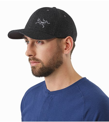 Wool Ball Cap Heathered Grey Front View