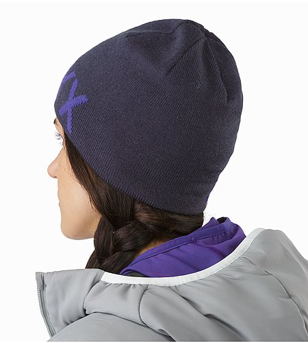 Word Head Toque Black Sapphire Dahlia Back View